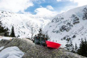 karkonosze z psem, belcando, żywienie psa w górach