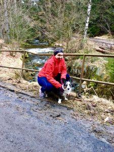idealny spacer z psem, bieganie z psem, karkonosze z psem